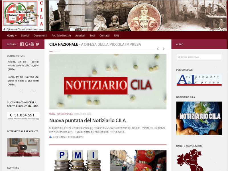 Cila nazionale web fenix servizi professionali di for Sito di design