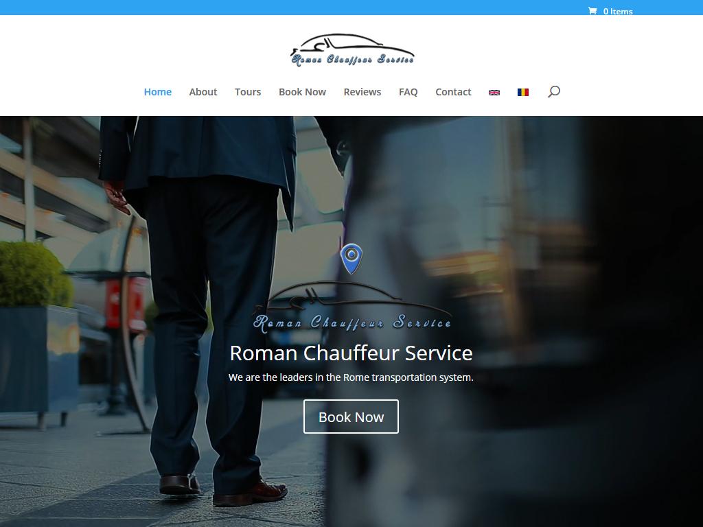 Sito web Roman Chauffeur Service