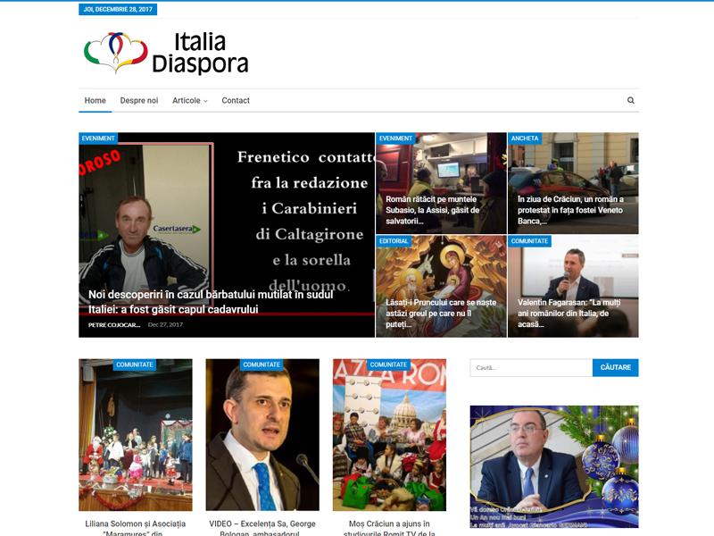 Sito web Italia Diaspora